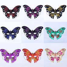 2017 Creative Vintage PVC Colorful Butterfly Mask Girls Women Eyewear Masks Halloween Dress Up Party Decoration