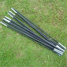 High Quality Fiberglass Tent Pole Kit 9 Sections Lightweight Camping Travel Tent Frame Repair Replacement(China)