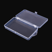Transparent Plastic Fishing Tackle Box Multifunctional One Compartment Fishing Lures Tackle Hooks Baits Case Storage Box Pesca