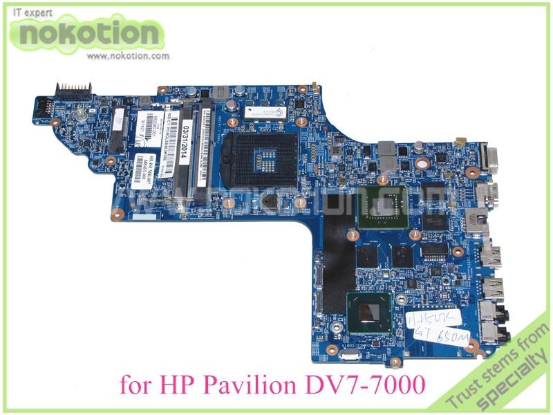 laptop motherboard for hp pavilion DV7-7000 682040-001 48.4ST06.021 HM77 nvidia GT650M DDR3<br><br>Aliexpress