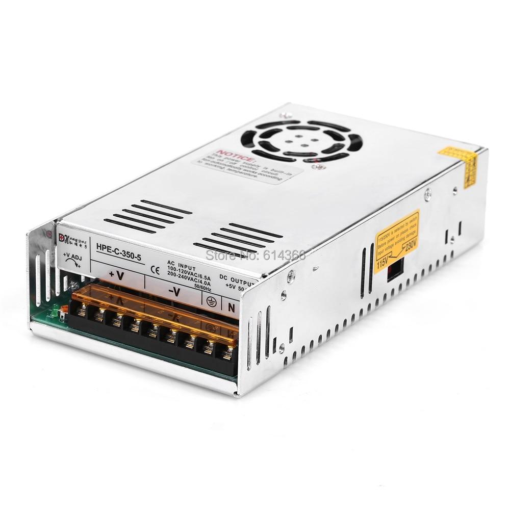 New Industrial Grade 350W 50A 5V power supply 5V 50A 350W 110-230V 5V 50A 100-240VAC<br>