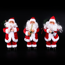 HOT 1pcs Santa Claus Electric Christmas Toys Christmas Decorations for House Dancing Singing Christmas Ornament Home Party Decor(China)