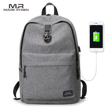 Markryden New Arrivals four Colors USB design Backpack Men Male student backpack weekend mochila(China)