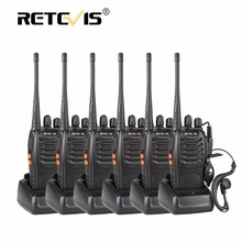 6pcs Retevis H777 Handheld Radio Walkie Talkie UHF 16CH Portable Ham Radio Hf Transceiver cb Hotel/Restaurant Walkie Talkies Set