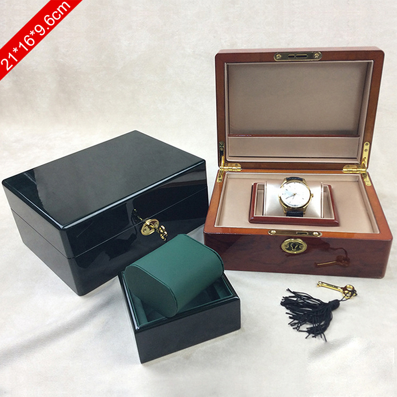 High-grade wooden watch box lock Holiday gift box Jewelry Necklace Bracelet Packaging Brand watches women men Birthday box Green<br><br>Aliexpress