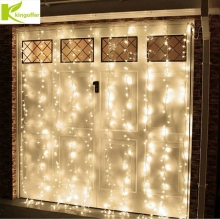 3*3M 300LED Curtain Icicle String Lights 220V New Year Christmas Wedding Party LED icicle Lights Waterproof IP65