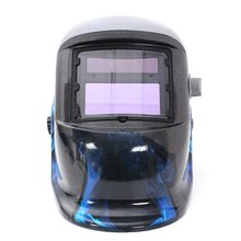 Hot Sale Pro Solar Welding Mask Auto Darkening Welding Helmet Blue Skull Style ARC TIG MIG Welding Helmet(China)