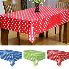 1PC Waterproof Oilproof Plastic Tablecovers Table Cloth Cover Party Catering Events Tableware Used for ,Party,Banquet(China)