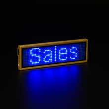 Programmable Rechargeble Blue LED name badge LED name tag digital display digital badge Scrolling LED Signs, 1133