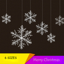 Christmas Tree Decorations Christmas Snowflake Ornament Decorative Snow Pendant Christmas Supplies 6 SIZES