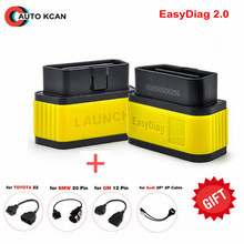 Launch X431 EasyDiag 2.0 100% Original auto code scanner Launch Easy Diag 2.0 For Android&IOS 2 in 1 with obd 16pin more cables(China)