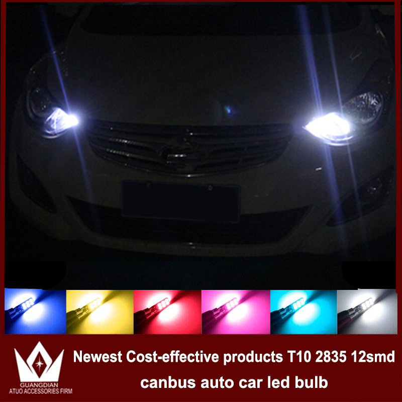 Guang Dian 4x LED CANBUS For solaris accent i30 elantra ix35 i20 santa fe sonata t10 w5w 2835 Clearance Lights Width lamp<br><br>Aliexpress