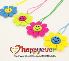 12PCS Smiling Face Flower Fancy Award Medals Kids Party Favor Necklace Pinata Fillers Toy Game Winner Prize Goody Bag Birthday(China)