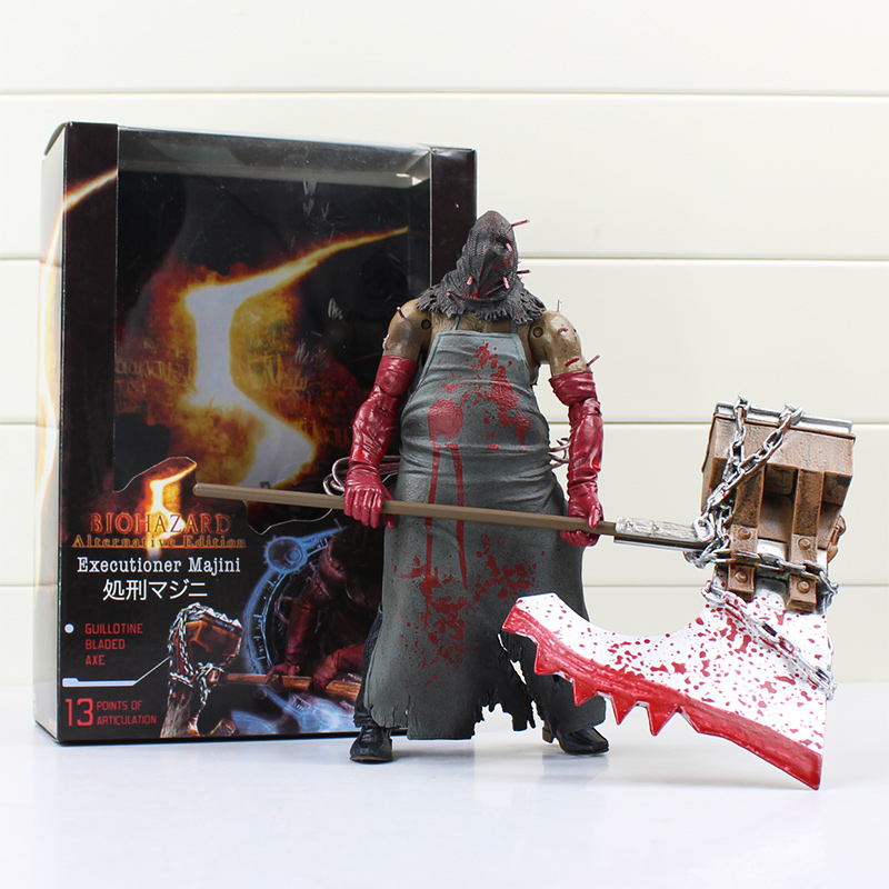 1pcs 20cm Resident Evil Neca Horror Toys Biohazard Executioner Majini Action Toy Figures<br><br>Aliexpress