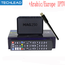 With 1 Year ip tv account European Arabic Spain Turkish UK dutch Italy IPTV code APK Linux MAG 250 tv box USB WIFI Set Top Box