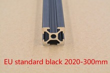 2020 aluminum extrusion profile european standard black length 300mm aluminum profile workbench 1pcs(China)