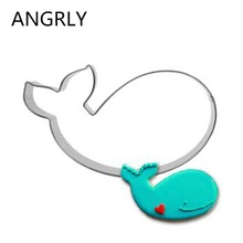 Whale Mold Kitchen Toys Cake Fondant Biscuit Press Icing Set Stamp Cookie Cutter Tools Stainless Steel Best Seller Baking Knife