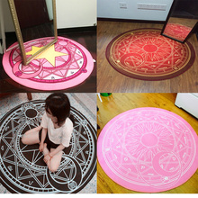 60CM/80CM Cartoon Round Carpet Children's Bedroom Card Captor Sakura Magic Circle Carpet Eco-Friendly Rug Computer Chair Mat