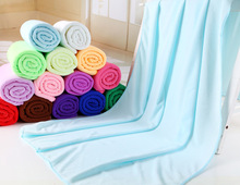 180g/pc 140x70cm Microfibre For beach towel Superdry Bath towels Super Soft Water Aborsbent Sports aqua Gym Microfiber towel(China)