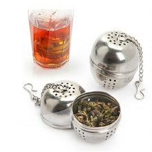Stainless Steel Locking Spice Tea Ball Strainer Mesh Coffee Infuser Tea Strainer Herbs Filter Cooking Seasoning Container(China)