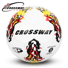 CROSSWAY Brand Yellow PU Soccer Balls Size 5 Champions League Ball Match Football Ball High Quality A++ Standard PU Soccer Ball(China)
