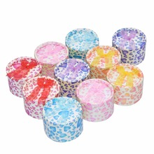 12pcs Mixed Color Jewelry Gift Round  Heart Shape Lovely Paper Boxes Organizers for Ring Earring Necklace Bracelet 5x5x3.5cm