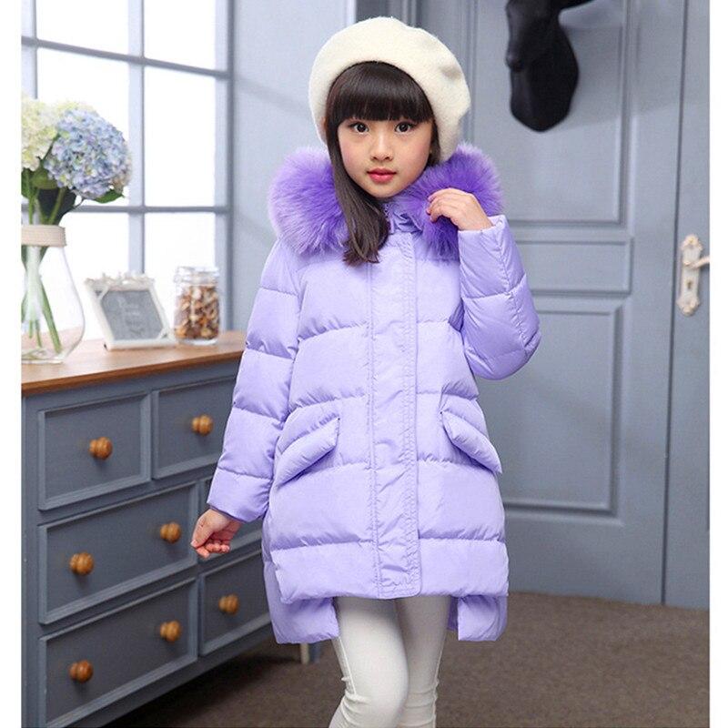 4-12Years Fashion Girl Winter Down Jackets Children Coats Warm Baby 100% Thick Duck Down Kids Outerwears For Cold Degree JacketÎäåæäà è àêñåññóàðû<br><br>