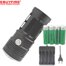 king 3T6 6t6 7t6 10t6 11t6 Flashlight 10x XML T6 LED Flash light Torch  Camp  Lamp Light+ 4 * 18650 battery +charger