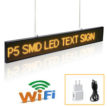 20inch P5 Led Sign SMD Module Scrolling Message LED Display Board with Metal Chain , Gym Countdown time indoor store advertisin