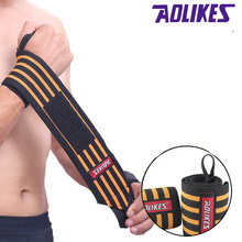 AOLIKES 1PCS Hand Wraps Wrist Strap Weight Lifting Wrist Wraps Powerlifting Bodybuilding Breathable Wrist Support(China)