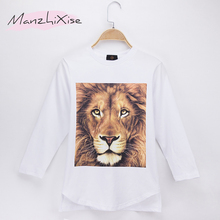 2018 New Product Children T-shirt Lion 3D HD Print Cotton Full Long Child Boys T Shirts Kids Clothes Girl Tops T Free Shipping(China)