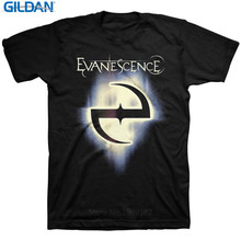 Custom T Shirts Online Gildan Short Sleeve O-Neck Christmas Evanescence Classic Logo Shirt For Men(China)