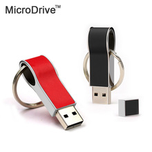 New Pendrive 64GB Key Chain USB Flash Drive 64GB PU leather Pen Drive High Speed USB Stick Real Capacity USB Flash
