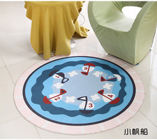 Blue Round Mat 60/80/100/120/160CM alfombras dormitorio Carpet Living Room Deurmat rugs Swivel chair Mats tapis chambre