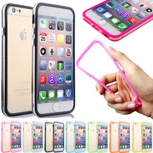 High Quality Case Cover Side protection for iPhone 4 4s 5 5s SE 6 6s Bumper Frame Bumpers TPU Case Silicone Crystal Skin