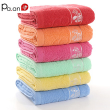Hot Sale 100% Cotton Bath Towel 70x140cm Thick Dobby Embroidery Red Towel Rectangle Big Beach Towels Home Bathroom Product