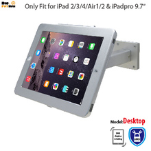Fit for iPad POS Wall Mount Stand Desktop with Security Lock specialized frame housing Anti-Theft holder for ipad Air Pro 9.7