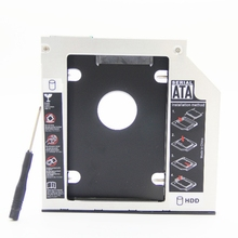 For Laptop CD DVD-ROM ODD Optibay Aluminum Universal SATA SSD HDD Caddy 9.5mm HDD Enclosure free ship registered post mail(China)