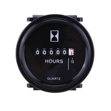 "Counter Timer Hourmeter 2"" Round Waterproof Gauge 12v 24v 36v Hour Meter for Marine Boat Engine"