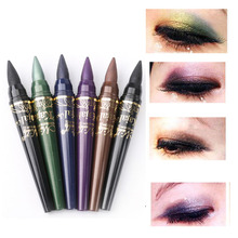 Profession Makeup Eyeliner Crayon Cosmetic Pen 6 Color/Set Eye Liner Shadow Pencil Waterproof Fast Dry Makeup For Women Lady(China)