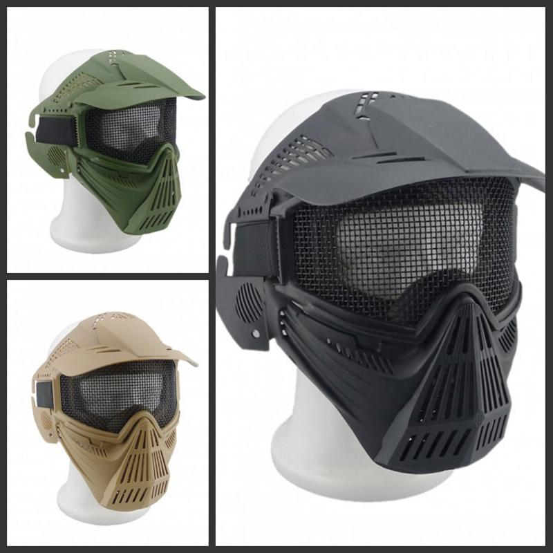 Outdoor Wargame CS Wire Full-Face Mask Field Tactical Nylon Big Iron Mesh Goggles Safety Protection Full Face Airsoft Paintball<br><br>Aliexpress