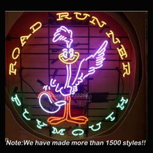 Rare Road Runner Plymouth Car Neon Sign Neon Bulb Recreation Garage Store Display Glass Tube Design Guarantee Handcraft VD 24x24