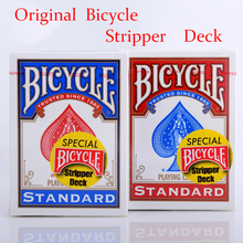 1pcs Original Bicycle Stripper Deck Bicycle Playing Cards Magic Trick Blue or Red poker card magic magic props 83172(China)
