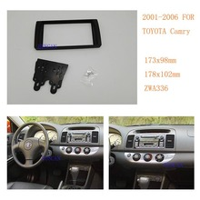 2 Din Car Radio Adaptor Frame Fascia for Toyota Camry 2001-2006 (US Market) Stereo Fascia Dash CD Trim Installation Kit