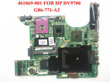 Original laptop motherboard for HP Pavilion DV9500 DV9700 461069-001 965PM G86-770-A2 8600GS 512M Fully tested