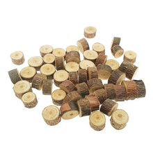Ergomagic 1 Bag 1-1.5cm Wood Log Slices for DIY Crafts Wedding Centerpieces Wood Tree Rings Decoration Wooden Pile Ornaments(China)