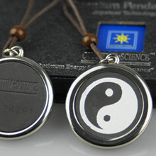 Special Chinese Taiji Kongfu Lava Quantum Pendant Energy Charms Scalar Quantum Necklace With Stainless Steel Protector 5pcs/lot
