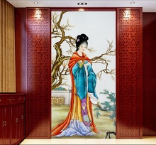 3d room wallpaper custom mural non-woven picture 3d The ancient Chinese beauty  porch paintings photo 3d wall murals wallpaper