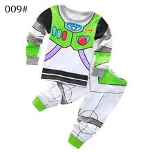 New Arrival toddler boy clothes set Buzz Lightyear kids pajamas set cartoon woody pijama infantil super mario bros pijama 2pcs(China)