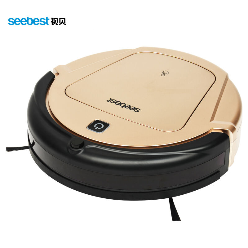 Seebest D750 Champagne gold Anti Collision and Anti Falling Vacuum Robot Cleaner with Automatic Charging Remote Control LCD(China (Mainland))